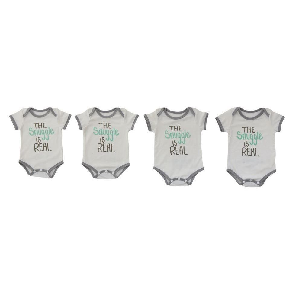 The Snuggle Is Real Baby Onesies - Clothing