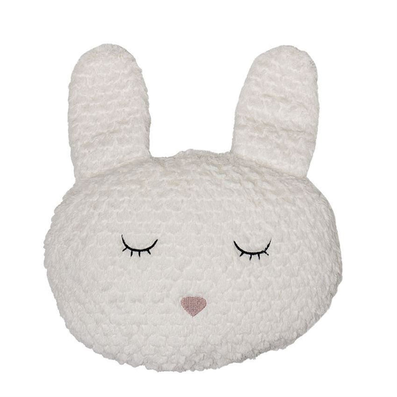 White Fabric Bunny Pillow