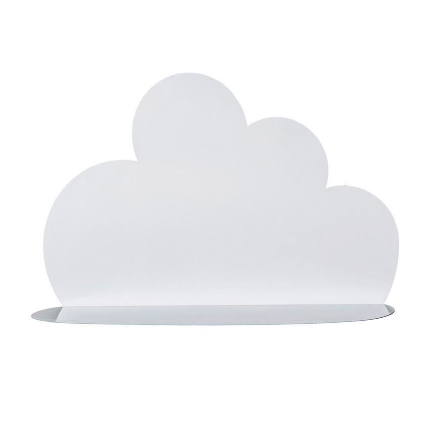 White Large Cloud Shape Shelf - Wall Decor