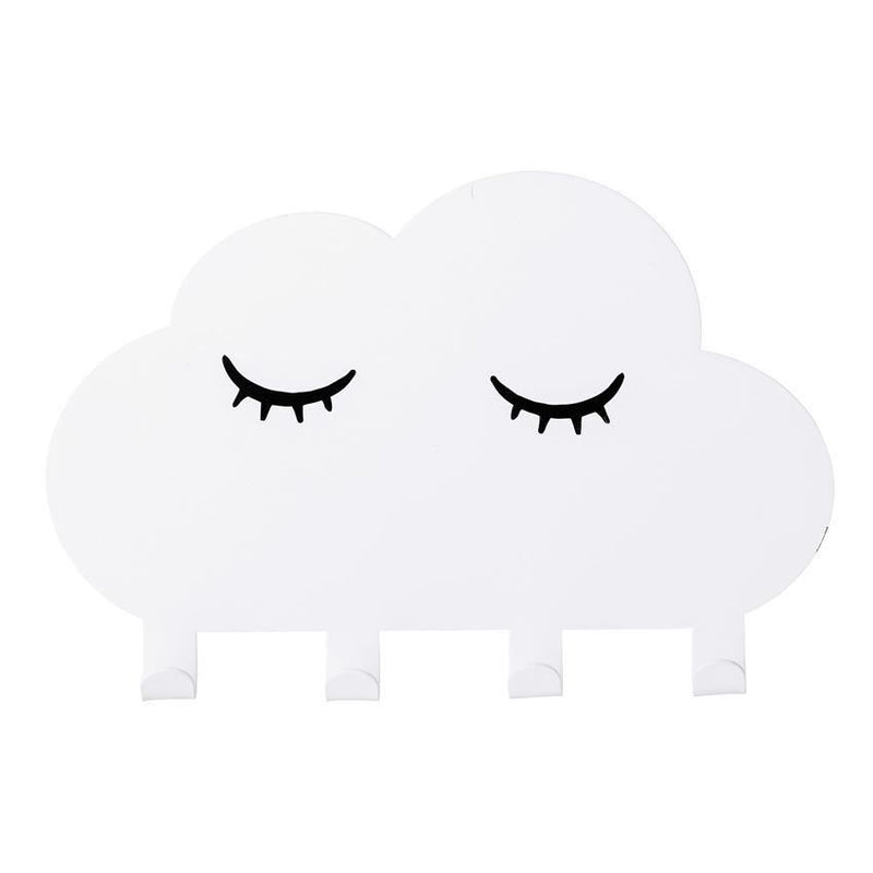 White Metal Cloud Wall Hook - Decor