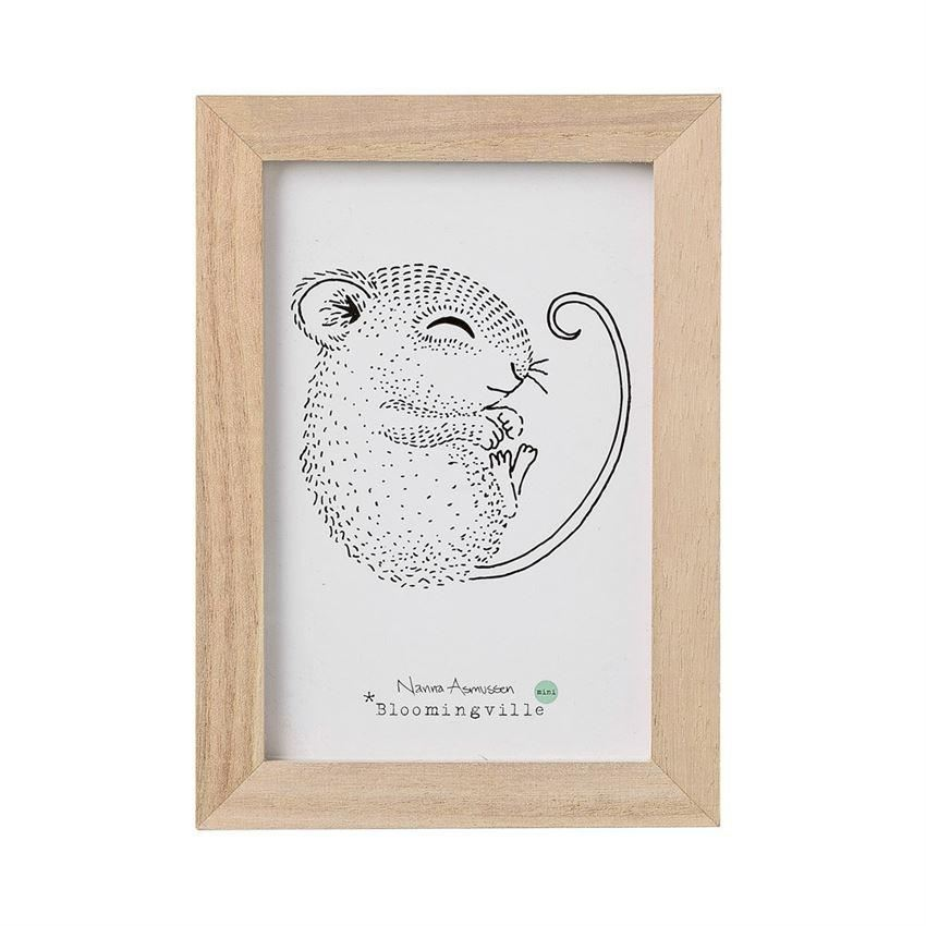 Wood Frame With Mouse Wall Decor