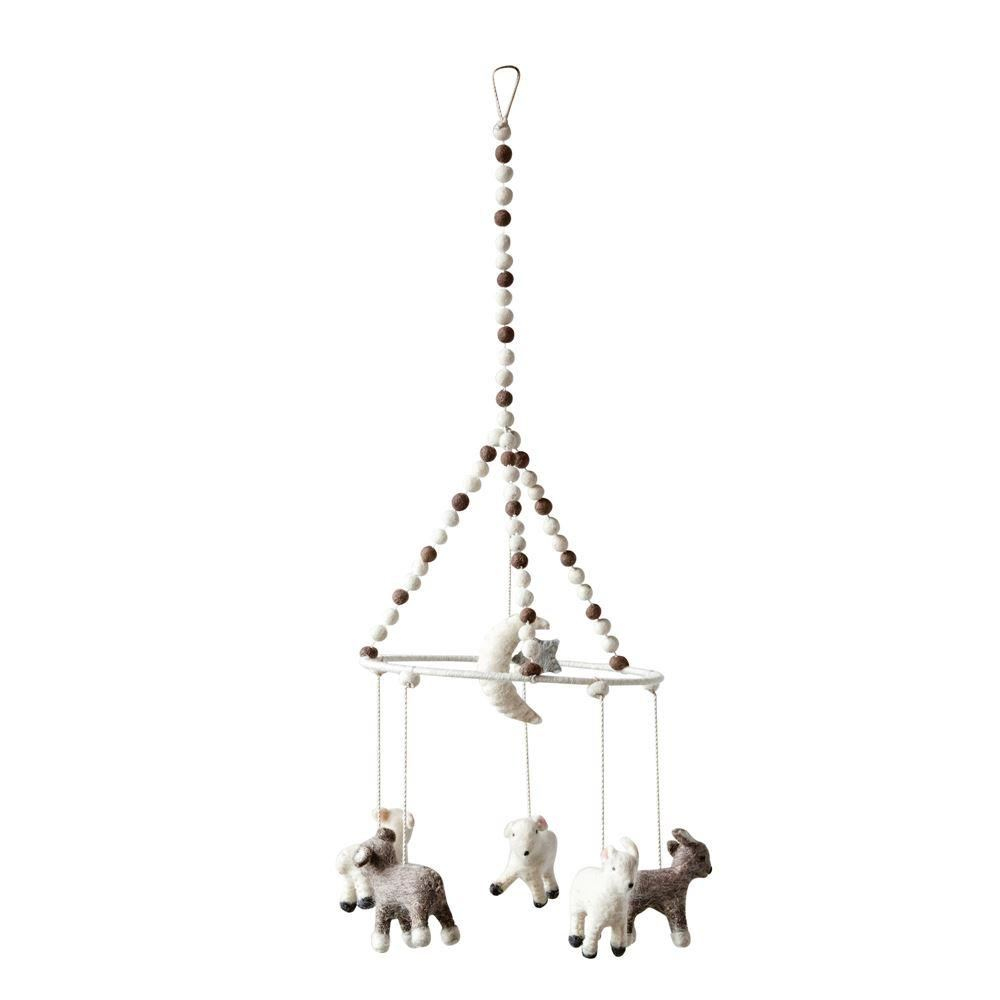 Wool Baby Lamb Mobile - Decor