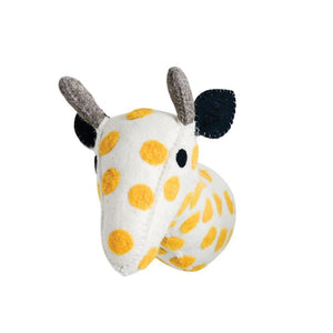 Wool Giraffe Head Wall Decor