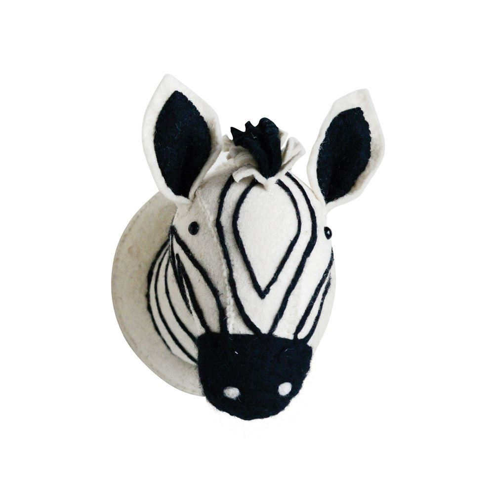 Wool Zebra Head Wall Decor