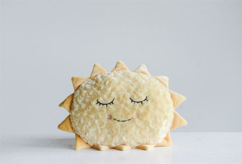 Yellow Sun Plush Pillow