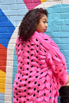 Lock and Key Oversized Pink Cardigan