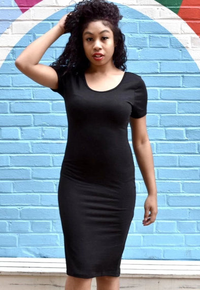 Style Staple Bodycon Dress (Black)