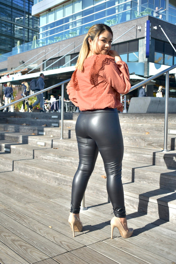 Midnight Faux Leather Leggings