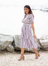 The Madrid Striped Midi Dress