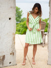 Such a Lady Striped Linen Dress
