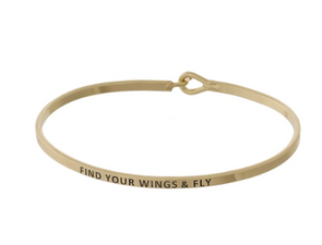Find Your Wings & Fly Bracelet