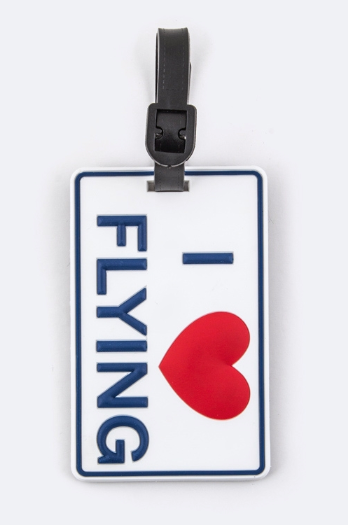 I Love Flying Luggage Tag