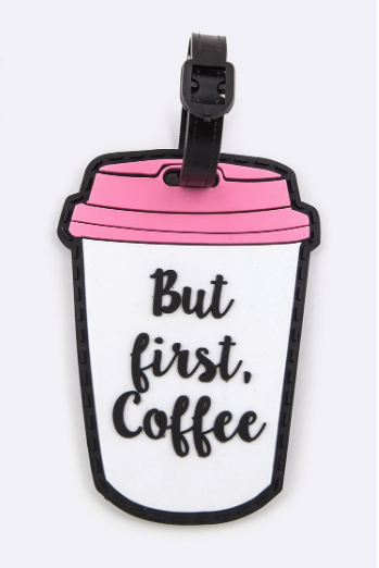 Coffee Time Luggage Tag