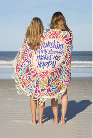 Sunshine & Happiness Beach Towel