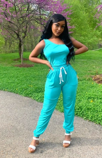 Galore Asymmetrical Two Piece Set (Mint)