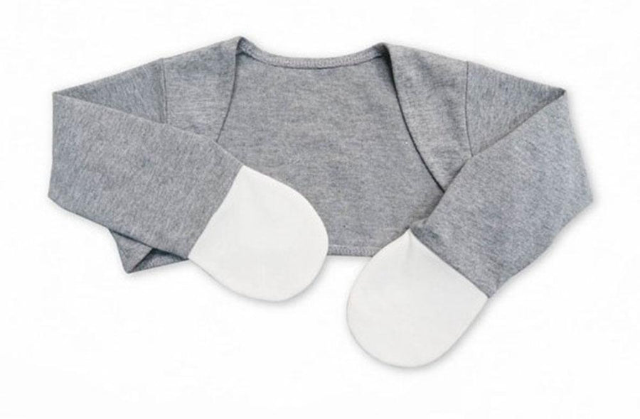 Scratch Sleeves with Zinc-Infused Mittens (Gray) - Eczema Oasis