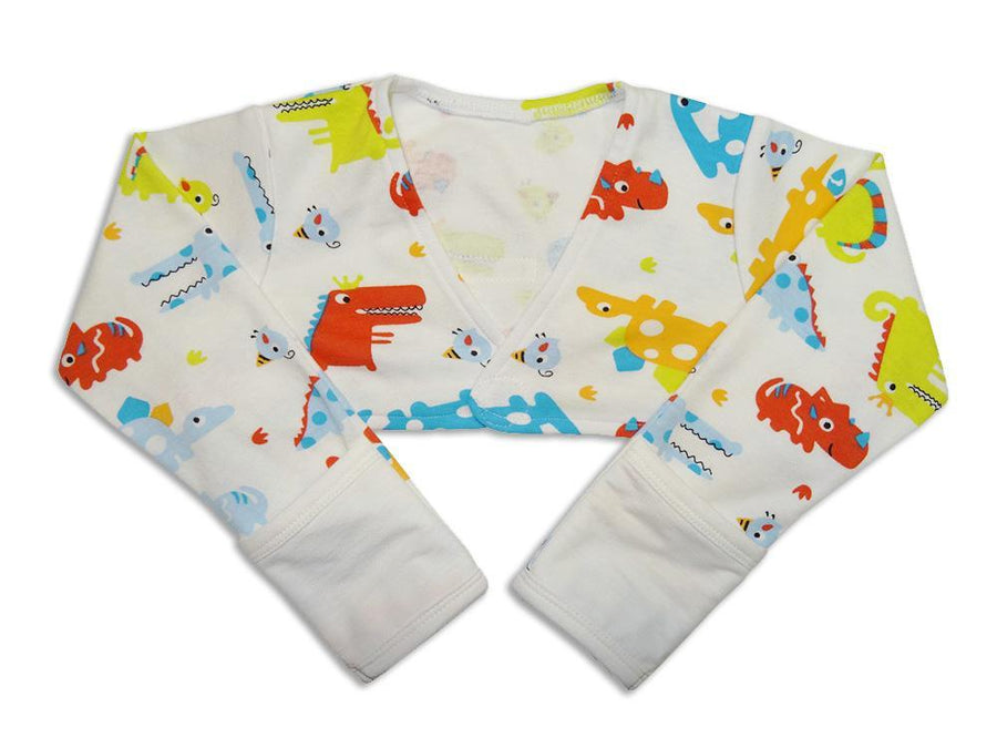 Scratch Sleeves with Zinc-Infused Flip Mittens (Dinosaur) - Eczema Oasis