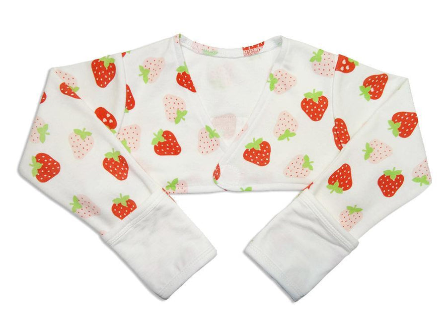 Scratch Sleeves with Zinc-Infused Flip Mittens (Strawberry) - Eczema Oasis