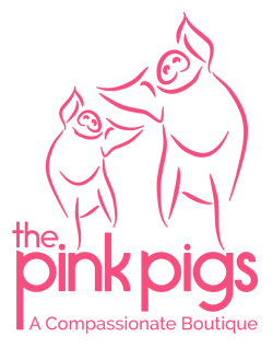 The  Pink Pigs - A Compassionate Boutique - LOGO