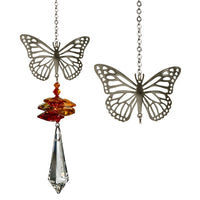CRYSTAL FANTASY™ - BUTTERFLY Suncatcher-The Pink Pigs, A Compassionate Boutique