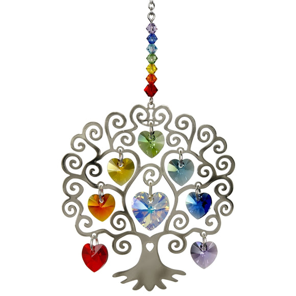 Crystal Tree of Life-Swarovski Crystal Suncatcher - The Pink Pigs, A Compassionate Boutique