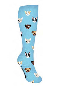 Cute Dog Face Knee High Compression Socks! Feel Good & Look Cute Too!-The Pink Pigs, A Compassionate Boutique