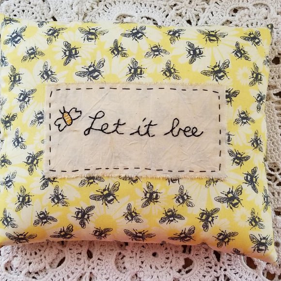 Let it Bee Pillow - The Pink Pigs, A Compassionate Boutique
