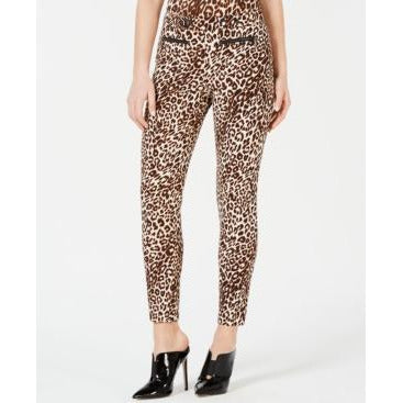 GUESS Double-Snap Animal-Print Pants size 0-The Pink Pigs, A Compassionate Boutique