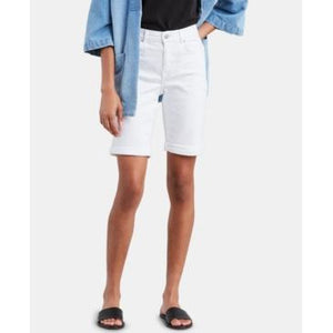 Levi's Women's Denim Bermuda Shorts White - The Pink Pigs, A Compassionate Boutique