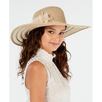 Nine West Packable Super Floppy Hat with Flower-The Pink Pigs, A Compassionate Boutique