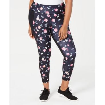 Ideology Womens Floral Athletic Leggings - Plus Sizes-The Pink Pigs, A Compassionate Boutique