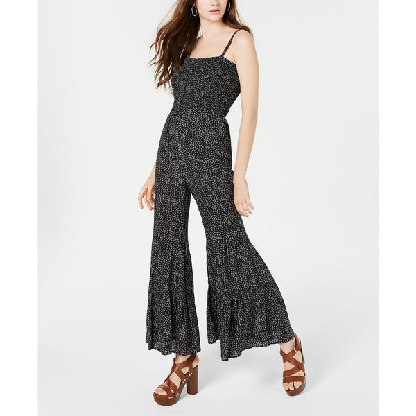 American Rag Juniors' Printed Flare-Leg Jumpsuit Black XL-The Pink Pigs, A Compassionate Boutique