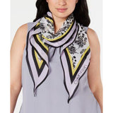 Calvin Klein Bouquet-Print Diamond Scarf - Lilac-The Pink Pigs, A Compassionate Boutique