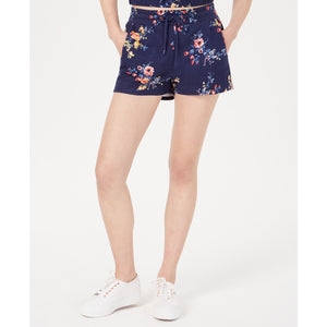 Material Girl Juniors' Printed French Terry Soft Shorts Dark Floral-The Pink Pigs, A Compassionate Boutique