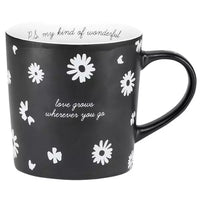 Bone China Mug - Love Grows Wherever You Go - PS My Kind of Wonderful
