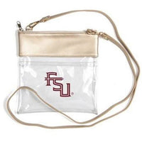 "Desden Clear Gameday Crossbody Handbag - 7.5""w x 8""h-The Pink Pigs, A Compassionate Boutique"