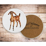 Watercolor Farm Animals Ceramic Coaster Set-The Pink Pigs, A Compassionate Boutique