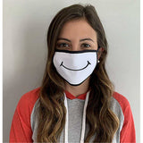 Up-cycled Eco Friendly White Face Protectors-Handmade by FAMS Design-The Pink Pigs, A Compassionate Boutique
