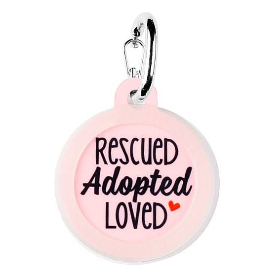 CUTEST Pet Dog Tags Made in the USA, Recycled Metal, Glow in Dark, Waterproof-The Pink Pigs, A Compassionate Boutique