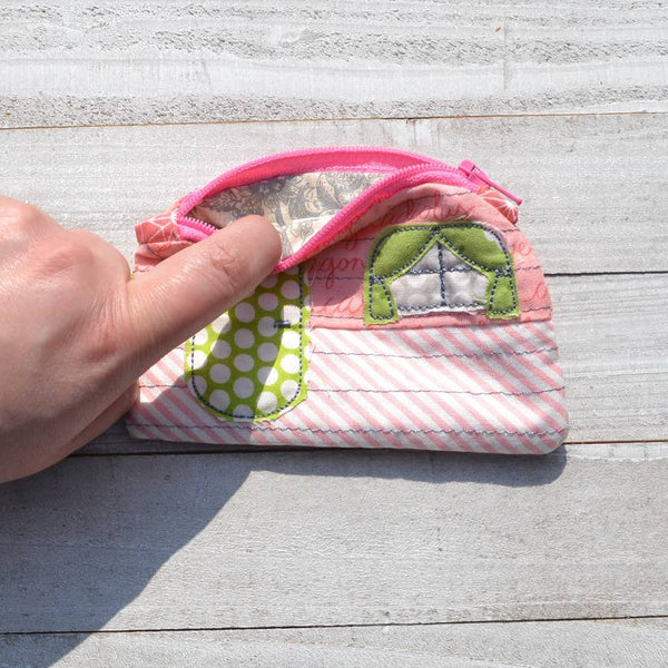 Camper Coin Purse - Repurposed Fabric - One of Kind-The Pink Pigs, A Compassionate Boutique