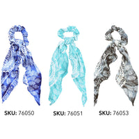 Flair Scarf Scrunchies Eco-Friendly Hand-Sewn-The Pink Pigs, A Compassionate Boutique