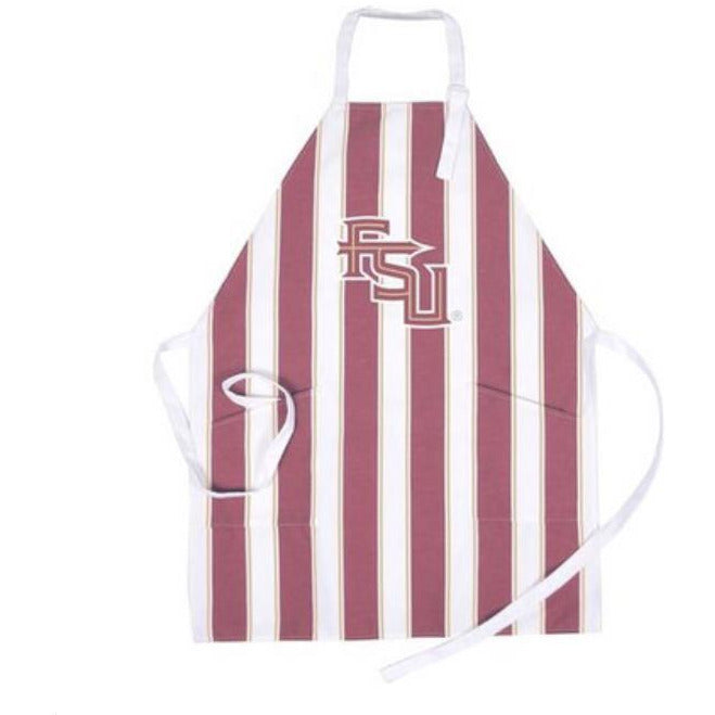 Tailgate Team Spirit Apron Striped - Florida / Florida State or Your Choice of 38 Teams! - The Pink Pigs, A Compassionate Boutique