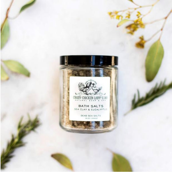 Dead Sea Salts, Clay, Eucalyptus and Charcoal Detoxifying Bath Salt Soak-The Pink Pigs, A Compassionate Boutique