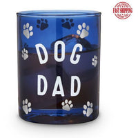 Dog Dad Cocktail Glass Blue 11oz.-Helps Rescued Animals!-The Pink Pigs, A Compassionate Boutique