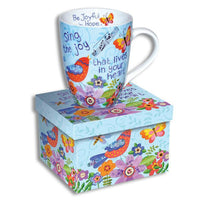 "Colorful Ceramic Scripture Mug 4.5"" 12oz - Sing for Joy to the Lord!-The Pink Pigs, A Compassionate Boutique"
