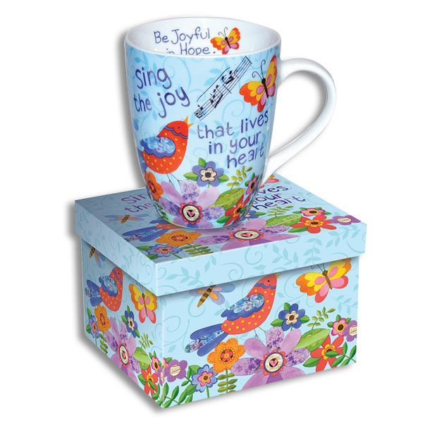 Colorful Ceramic Scripture Mug 4.5