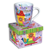 "Scripture Mug ""Every Day Is a Gift"" 4.5"" 12oz Beautifully Gift Boxed-The Pink Pigs, A Compassionate Boutique"