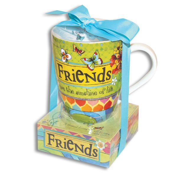Friends Are Sunshine Mug and Notepad Gift Set - The Pink Pigs, A Compassionate Boutique