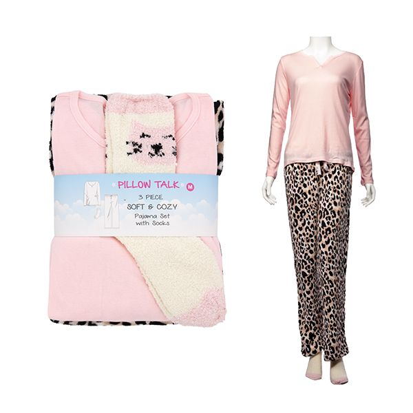 Cozy Toesie Long Sleeve Shirt, Pajama and Sock Set - Leopard Cat - The Pink Pigs, A Compassionate Boutique