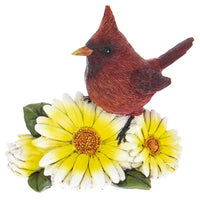 "Resin Cardinal Flower Figurines ""3 Colors""-The Pink Pigs, A Compassionate Boutique"